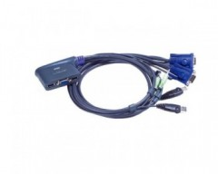 Aten CS62US-AT Switch KVM USB VGA a 2 porte con audio cablato
