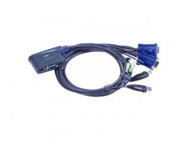 Aten CS62US-AT Switch KVM USB VGA a 2 porte con audio cablato