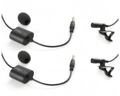IK Multimedia iRig Mic Lav Lavalier/lapel/clip-on microphone for mobile devices. Includes 2 units of iRig Mic Lav