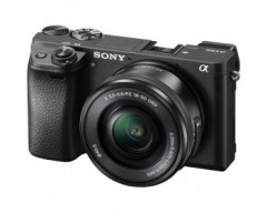 Sony Alpha A6300 Digital Compact System Camera with 16-50mm Power Zoom Lens - 4K Movie Recording - Black