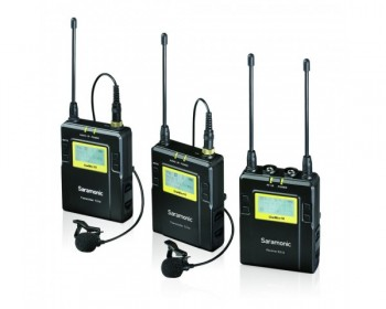 Saramonic UWMIC9 96-Channel Digital UHF Microfono Wireless Lavalier con 2 TX Bodypack