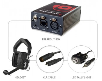 JVC Streamstar INTERCOM & TALLY with Headsets ntegrated communication system including headsets