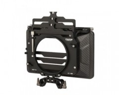 "Tilta MB-T12 Three Stage 4 x 5.65"" Carbon Fiber Clamp On Matte Box w/ 15mm Rod Adapter"