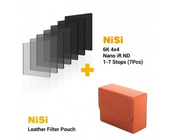 NiSi 4x4 Nano iR ND Complete Filter Bundle 1-7 Stops (7PCS)