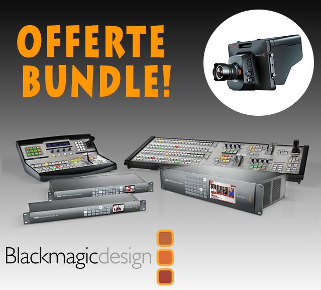 Blackmagic design parte la promozione camera bundle una for Design d occasione
