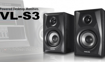 Grande suono in monitor compatti Tascam VL-S3 e VL-S3BT Powered Desktop Monitors